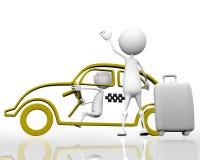 Appelle un taxi Image libre de droits