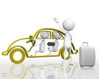 Appelle un taxi Images libres de droits