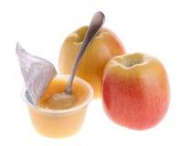 Appelmoes en appelen Royalty-vrije Stock Afbeeldingen