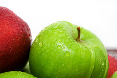 Appels. Green and red appels on white background Royalty Free Stock Photography