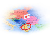 Appels de la Grèce pour l'aide Photo libre de droits