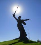 Appels de la mère patrie de monument, Russie Image stock