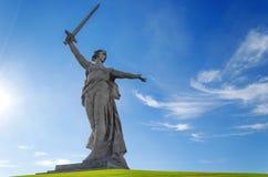 Appels de la mère patrie de sculpture ! Image libre de droits