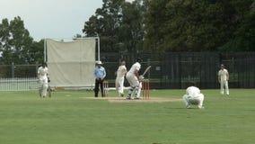 Appels de lanceur de rotation dans un match de cricket banque de vidéos