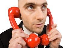 Appels téléphoniques images libres de droits