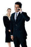 Appels téléphoniques d'affaires photos stock