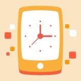 Appels téléphoniques et conversations de temps illustration libre de droits