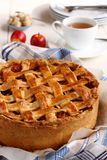 Appeltaart, homemade traditional dutch apple cake Royalty Free Stock Photography
