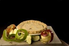 Appeltaart met appelen. Royalty-vrije Stock Foto