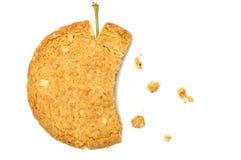 Appelvormig koekje met crumbs Royalty-vrije Stock Foto