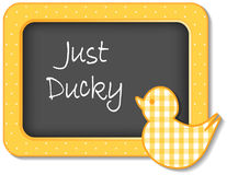 Appena blocco per grafici Ducky della scuola materna Fotografie Stock Libere da Diritti