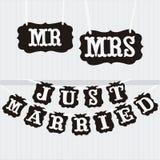 Appena carta sposata Immagini Stock