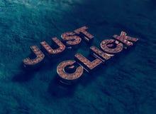 Appena clic Immagine Stock