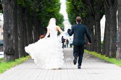 Appena coppia sposata immagini stock libere da diritti