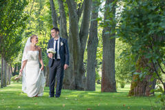 Appena coppia sposata Immagine Stock