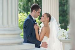 Appena coppia sposata Fotografie Stock Libere da Diritti