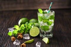 Appena fatto senza cocktail alcolico di mojito Fotografie Stock