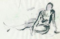 Appena figura illustrazione di stock