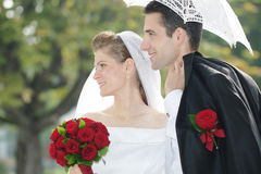 Appena giovani coppie sposate Immagine Stock