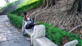 Appena sieda e rilassi Fotografie Stock Libere da Diritti