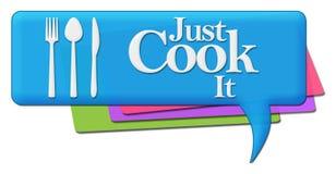 Appena simboli di It Colorful Comments del cuoco royalty illustrazione gratis