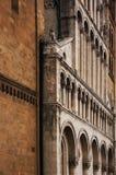 Appena soltanto una parete della chiesa fotografia stock