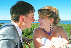 Appena-sposato. fotografia stock libera da diritti