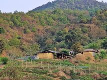 Appena un piccolo villaggio a imphal Manipur India Fotografie Stock Libere da Diritti