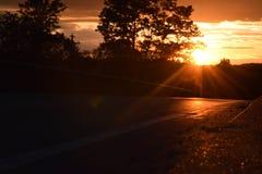 Appena un tramonto sul ponte Fotografia Stock