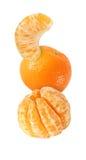 Appendendo, frutti del mandarino cadendo, salendo e volando isolati Immagini Stock