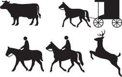 Appendice agli animali dei segnali stradali illustrazione di stock
