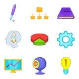 Appendix icons set, cartoon style. Appendix icons set. Cartoon set of 9 appendix vector icons for web isolated on white background Royalty Free Stock Photos