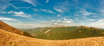Appennino Reggiano mountains in the north of Italy Royalty Free Stock Images