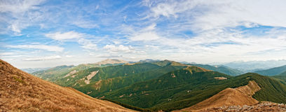 Appennino Reggiano mountains in the north of Italy Royalty Free Stock Photo