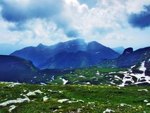 Appenzell Alps mountain range Appenzeller Alpen. Canton of St. Gallen, Switzerland stock photography
