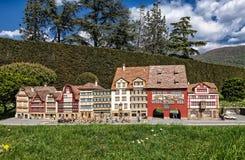 Appenzell huvudsaklig gata royaltyfria foton