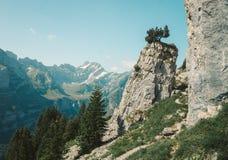Appenzell Inn-to-inn hiking. In switzerlnad stock photos