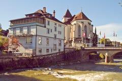 Appenzell-Stadt Stockfotografie