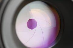 Apperture de la lente del foto fotografía de archivo