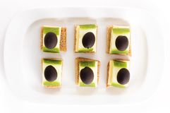 Appetiser with olives Royalty Free Stock Photos