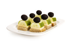 Appetiser with olives Royalty Free Stock Photography