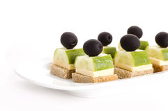 Appetiser with olives Royalty Free Stock Image