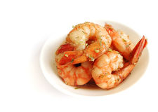 Appetisers, cold prawns with herbs Royalty Free Stock Photos