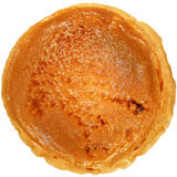 Appetising russian pancake. On white background stock image