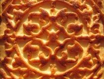 Appetitanregende rosige Biskuite mit Verzierung Lizenzfreies Stockfoto