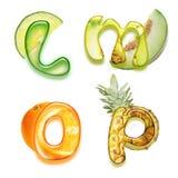 Appetitanregendes Alphabet 2 Stockbilder