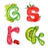 Appetitanregendes Alphabet 3 Lizenzfreies Stockbild