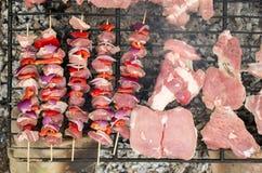 Appetitanregendes Fleisch auf einem Grill Lizenzfreies Stockbild