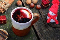 Appetite for mulled wine Stock Image
