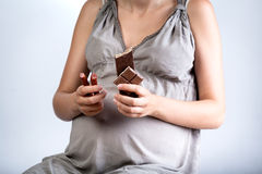 Appetite during pregnancy. Horizontal view of the appetite during pregnancy Royalty Free Stock Photography